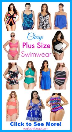 Get ready for the warmer weather! Check out our list of awesome but affordable plus size swimwear.