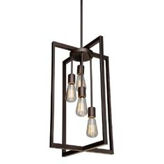 Check out the Artcraft AC10414 Gastown 4 Light Chandelier in Oil Rubbed Bronze priced at $185.00 at Homeclick.com.