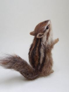 Realistic felted chipmunk by TrueStyleLab on Etsy ...wow! Amazing detail!
