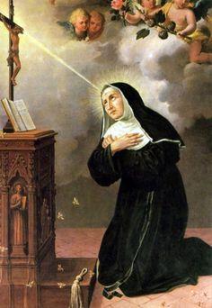 �Conoces a Santa Rita de Casia, la Santa de los Imposibles?: Una representaci�n popular de Santa Rita de Casia, con el estigma de la frente.