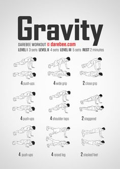 gravity (push-up) bodyweight workout for all fitness levels. Visual guide: print & use.No-equipment gravity (push-up) bodyweight workout for all fitness levels. Visual guide: print & use. Arm Workout No Equipment, Arm Workout Men, Chest Workout For Men, Sixpack Workout, Push Up Workout, Gym Workout Tips, Fitness Equipment, Bodyweight Arm Workout, Workout Routines