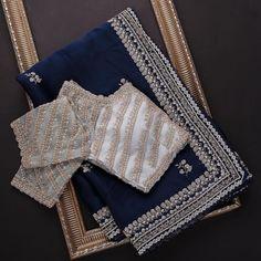 Cotton Saree Blouse, Saree Blouse Patterns, Saree Blouse Designs, Half Saree Designs, Fancy Blouse Designs, Designer Blouses Online, Saree Embroidery Design, Indian Bridal Sarees, Stylish Blouse Design
