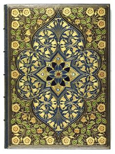 """""""Sangorski & Sutcliffe was one of England's foremost luxury binding firms during the early decades of the twentieth century. Founded in London in 1901 by the Polish émigré Francis Longinus Sangorski and George Sutcliffe, the firm began in 1905 to specialize in magnificent custom-made jeweled leather bindings. Some of their most lavish efforts were reserved for unique literary manuscripts such as this one, written in neo-Gothic calligraphy with beautiful Pre-Raphaelite illuminations."""""""