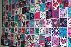 Legacy Tile Wall. Columbus Elementary art tile wall project started out as a beautification project, ended up as a legacy wall of hearts