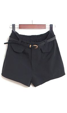 Cute casual shorts 551 Black,awesome