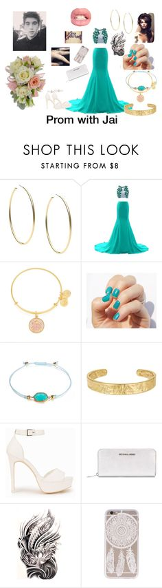 """""""Prom with Jai"""" by janojaibae ❤ liked on Polyvore featuring beauty, Michael Kors, Alex and Ani, Sam Edelman, Brooks and Nly Shoes"""