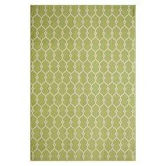 Indoor/Outdoor Fretwork Accent Rug - Green (4'x5'6)