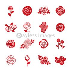 Set of rose flower design elements - ストックフォトの定額制ペイレスイメージズ Mehndi Designs Book, Mehndi Designs For Hands, Stencil Painting, Fabric Painting, Henna Patterns, Print Patterns, Flower Drawing Tutorials, Powerpoint Background Design, Wreath Drawing