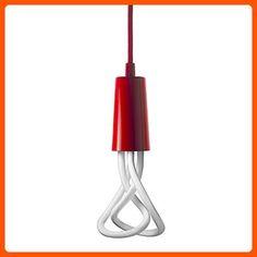Plumen Set Plumen 001 E26 Plus Red Drop Cap - Unique lighting lamps (*Amazon Partner-Link)