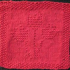 Tulip Trio Knit Dishcloth Pattern