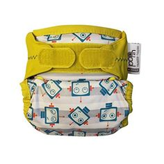 Close PopIn Single Nappy Bamboo New Print Robot  Pack of 2 ** You can find more details by visiting the image link.