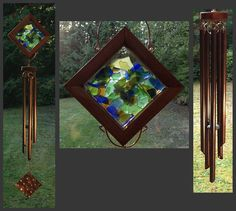 Sea Glass Wind Chimes | Wind Chime, Beach Glass, Sea Glass, Stained Glass, Copper, Suncatcher ...