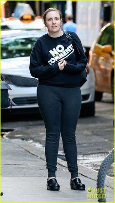 Lena Dunham Has 'No Comment' in New York City