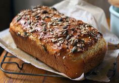 It's always handy to have a decent wheat-free loaf recipe up your sleeve, and this one made with a variety of seeds is a winner