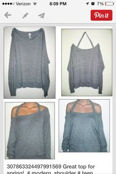 You can do this with any shirt! Cut the neck seem away from the shirt but leave the neck part intact and there ya go!