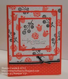 Bright Coral Blossoms by stampinshauna - Cards and Paper Crafts at Splitcoaststampers