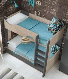 "Awesome ""bunk bed designs boys"" information is offered on our internet site. Take a look and you wont be sorry you did. Bunk Beds With Stairs, Cool Bunk Beds, Kids Bunk Beds, Kids Bedroom Furniture, Bedroom Decor, Cheap Furniture, Rustic Furniture, Ikea Bunk Bed, Bunk Bed Designs"