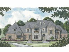 European House Plan with 6812 Square Feet and 4 Bedrooms(s) from Dream Home Source | House Plan Code DHSW65686