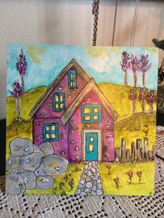 My painting from Jodi Ohl's Zen Houses