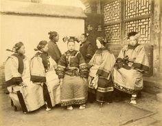 Yamamoto Sanchiro - 'Different Coiffures and Costume of Chinese and Manchurian Ladies'
