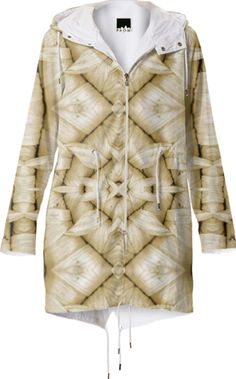 Raincoat with fractal flower in latte color from Print All Over Me