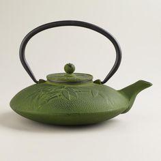 Green Cast Iron Teapot