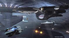 """Star Trek"" Starfleet starship pictures and gifs. Star Trek Vi, Star Trek Ships, Star Wars, Aliens, Science Fiction, Star Trek Bridge, Alien Ship, Starfleet Ships, Star Trek Universe"