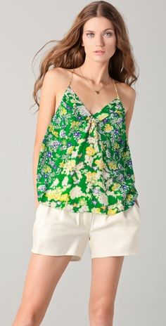 Rebecca Taylor Garden Flower Patched Camisole thestylecure.com