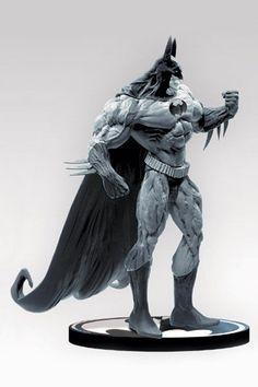 DC Direct Batman Black and White Statue by Simon Bisley / Willam Paquet