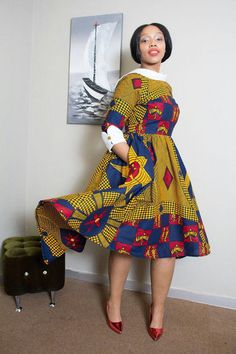 African dress by Essie ~DKK ~African fashion, Ankara, kitenge, African women dresses, African prints, African men's fashion, Nigerian style, Ghanaian fashion.