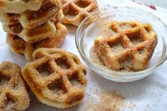 5+Minute+Cinnamon+Sugar+Waffle+Bites+Recipe