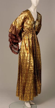 1977 - Rhodes. Silk, metallic (sari fabric).