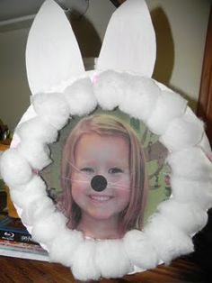 bunny up a pic; or, better yet, put nose/ears/whiskers on pics in your house