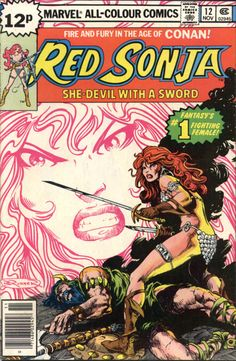 Red Sonja #12, November 1978, cover by Frank Brunner - one of the few I would pick up at my local comic store