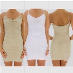 White Wave Tank Dress Fitted Tank Dress Dresses