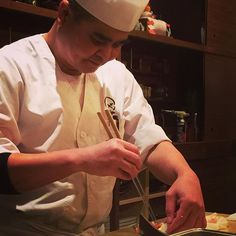 WEBSTA @ maruyasf - Chef Nobu, a quiet chef but he'll do his best to explain the type of fish he presents with your #omakase at #maruya #maruyasf #missionsf