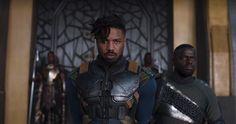 First look at Michael B. Jordan in Black Panther teaser trailer