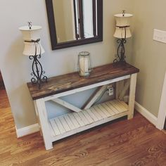 Living room ideas Rustic Sofa Table Entry Table Rustic Home Decor Farmhouse Furniture, Pallet Furniture, Furniture Projects, Rustic Furniture, Furniture Decor, Furniture Design, Antique Furniture, Farmhouse Sofa Table, Farmhouse Decor