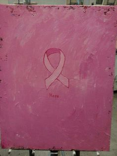 Breast cancer ribbon  by NeonHorseDesign on Etsy
