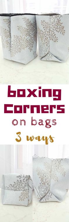 SEWING BOX CORNERS ON BAGS - Wondering how to give design, shape and volume to all your bags? Simply create a flat bottom! Here you'll learn 3 easy peasy ways for sewing box corners! #sewing #sewingproject #sewingtips #sewingforbeginners #sewingmachine #sewingblogger #bag #bagsandpurses #sewingtutorials #beginnersewing