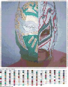 http://ponciar.blogspot.it/2016/02/schemi-wwe-punto-croce-gratis-sin.html SCHEMI WWE PUNTO CROCE GRATIS:SIN CARA+KALISTO=LUCHA DRAGONS #blog #wwe #sincara #kalisto #crosstitch #PatternMaker #puntocruz #puntocroce #faidate