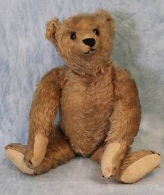 Antique Steiff Mohair Teddy Bear, glass eyes ff button Nice Pads Growler works!