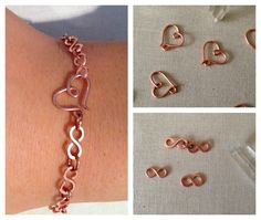 Free Tutorial: Wire Infinity Link Chain Bracelet with Wire Heart Clasp by Lisa Yang featured in Sova-Enterprises.com Newsletter!