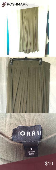 Torrid Green Army maxi skirt Torrid maxi skirt. Color green army. Stretchy waistband. Torrid size 1. torrid Skirts Maxi