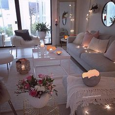 55 cozy living room decor ideas to copy 7 ⋆ All About Home Decor Cozy Living Rooms, Home Living Room, Apartment Living, Living Room Designs, Living Room Decor, Bedroom Decor, Cozy Apartment, Decor Room, Romantic Living Room