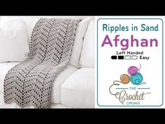 Crochet Ripples in the Sand Afghan + Tutorial - The Crochet Crowd