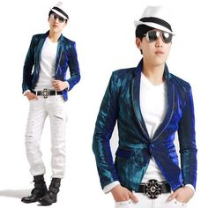 Best Blue Corduroy Fitted Casual Goth Hippie Prom Suit Jacket Men Buy  SKU-11401343