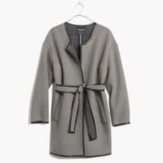 Madewell leather-tipped wrap coat: 12 Perfect Robe Coats for Your Laziest Winter Days