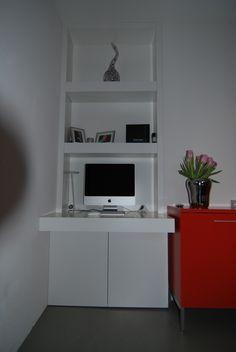 Computerkast in een nis Realisatie Robbin hooghiemstra Ontwerp Eugenie Hooghiemstra
