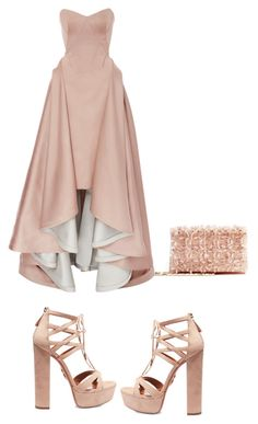 """Untitled #226"" by aayushis on Polyvore featuring Oscar de la Renta, Zac Posen and Aquazzura"